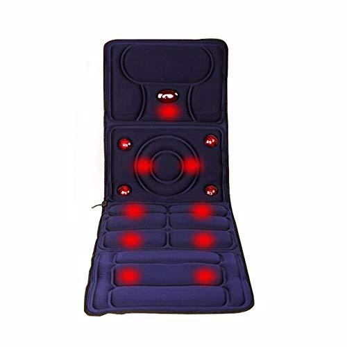 WAHHW Intelligentes Massagebett Elektrisches Massagekissen für den Haushalt, Klappbares Körpermassagebett für das Gesundheitswesen Tragbares multifunktionales Physiotherapie-Massagekissen,Blau