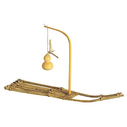 OVBBESS Balsas de bambú hechas a mano Zen Calabaza té ceremonia pequeñas bandejas hogar muebles de mesa decorativos artesanías