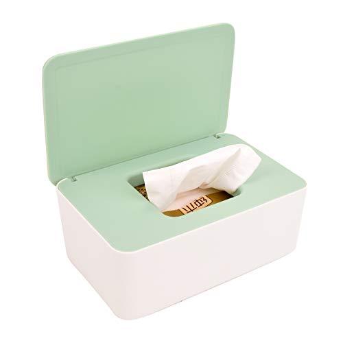ZUNBO Dispensador de toallitas húmedas para bebés, esterilización de toallas de papel, caja para toallitas(verde)