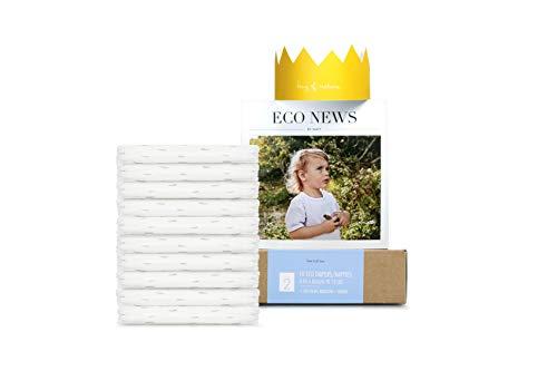 Eco by Naty, Taglia 2, 10 pannolini, 3-6kg, Pannolino eco premium a base vegetale con lo 0% di plastica sulla pelle