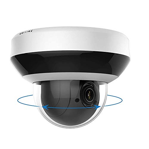 4MP POE IP PTZ Camera outdoor 4X Zoom, IP CCTV Dome Security Camera IR Night Vision Weatherproof, with SD Card Slot, Motion Detection Onvif