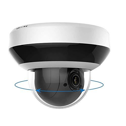 4MP POE IP PTZ Kamera Outdoor 4X optischer Zoom, IP Überwachungskamera IR Nachtsicht wetterfest, mit SD Kartensteckplatz Audio Alarm, Bewegungserkennung kompatibel Onvif