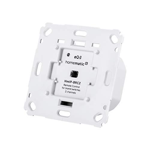 ELV Homematic IP Komplettbausatz Wandtaster für Markenschalter 2fach HmIP-BRC2
