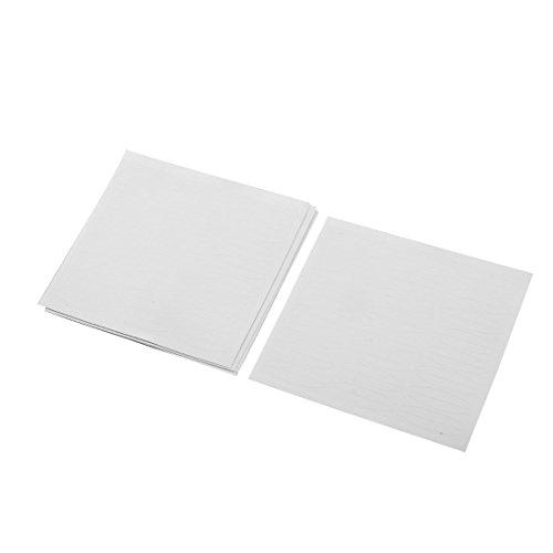 sourcingmap 120 Paires Plastique Transparent Blanc Large Double Paupière Adhésif Ruban Adhésif Stickers