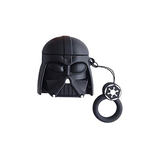 Airpod Case Darth Hautbezug mit 3D Star Warriors Stormtrooper Master Fashion Dekor Airpods Zubehör mit 45-teiligen Aufklebern (Darth)