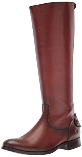 Frye womens Melissa Button Back Zip Knee High Boot, Cognac, 9.5 US