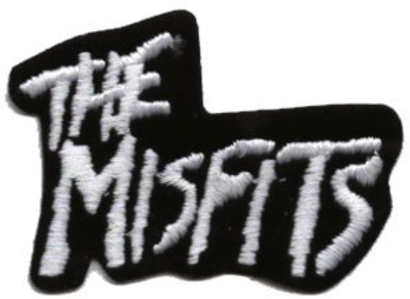 The Misfits - White Logo on Black Background - Embroidered Iron On or Sew On Patch