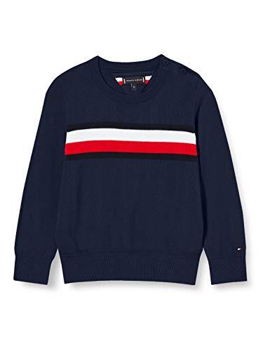 Tommy Hilfiger Jungen Essential Th Warm Sweater Pullover, Twilight Navy, 8