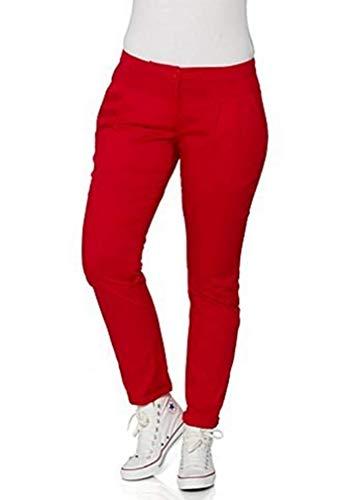 Pantaloni Pantaloni chino Donna Breve formato Misura lunghezza di sheego - rosso, 88
