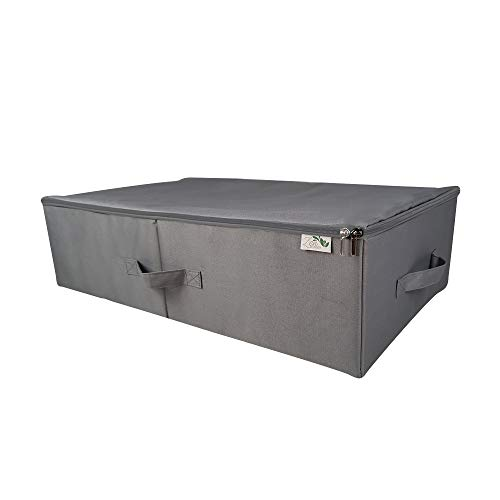 Zen Caddy Underbed Storage Bags. Large, versatile, foldable storage boxes for clothes, bedding, toys etc. Fabric, reinforced with plastic boards for attractive under bed storage containers.