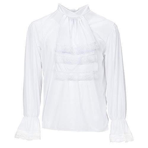 WIDMANN Blusa con jabot para adultos, color blanco, extra-large (4295R)