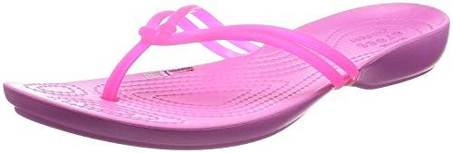 Crocs Crocs Damen Isabella Sandalen Flipflops, Rosa (Vibrant / Pink / Party / Pink), 34/35 EU