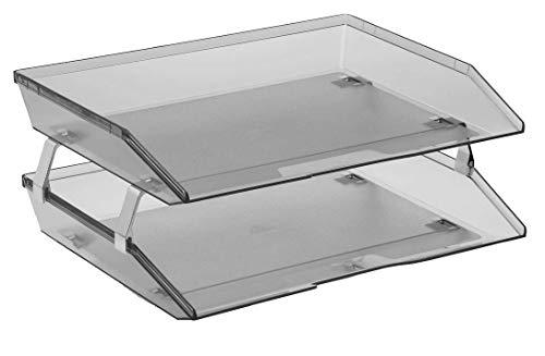 Acrimet Facility Briefablage doppelt Querformat Design (A4 format) (Transparent Grau)
