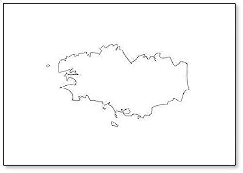 Bretagne - Kaart Regio Frankrijk Koelkast Magneet