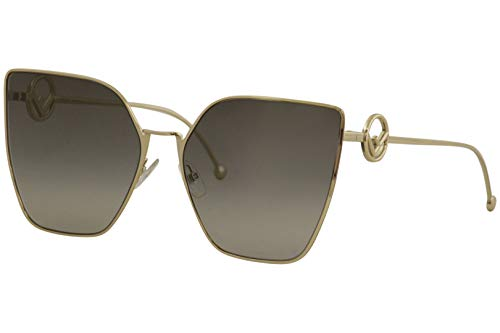 Fendi FF0323/S FT3 Grey/Gold FF0323/S Cats Eyes Sunglasses Lens Category 3 Si