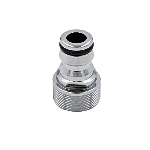 SpiceFlow Adaptador de grifo | M24 AG compatible con Gardena | cromo/latón