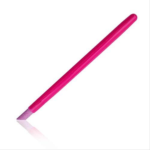Outils De Soins Des Ongles Nail Quartz Grinding Rod Quartz Pen Rose Red Rod