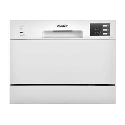 COMFEE' Dishwasher TD602E-W Freestanding Dishwasher with 6 Place Settings,...