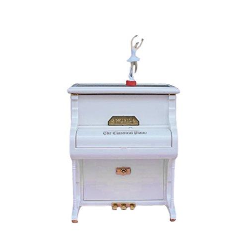 MagiDeal Meuble Cas De Piano Sculpté Miniature Décor Maison De Poupées Salle De Musique
