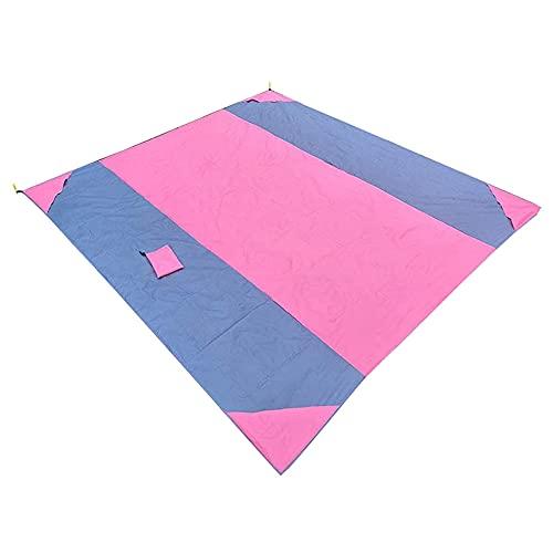 GAOYUAN Alfombra de camping multifuncional, forma rectangular de color abigarrado, manta de playa a prueba de humedad (rosa, 270 x 210 cm)