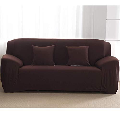 Funda de patrón de sólido Liso Sofá Cubierta de sofá Cubiertas de sofá para Sala de Estar Cubierta de sofá Sofá Silla de Toalla Sofá Cubierta Sofá Funda (Color: Café, Especificación: 1 Asiento 90 140