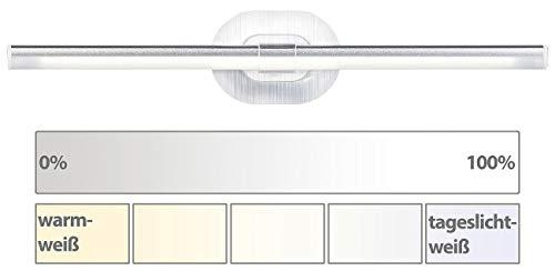 Sichler Beauty Schminklicht: LED-Kosmetik-Spiegelleuchte, Klebepad, Helligkeit & Lichtfarbe wählbar (Schminklampe)