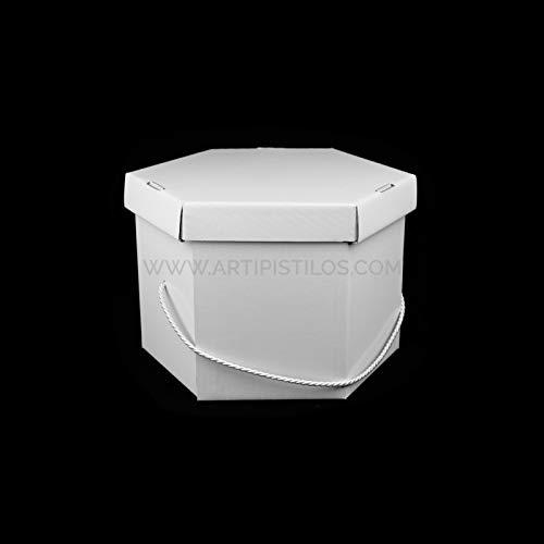 Artipistilos® hoedendoos wit 30 x 21 cm - wit - kartonnen dozen