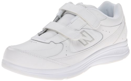 New Balance Women's WW577 Hook and Loop Walking Shoe, White, 9 2E US