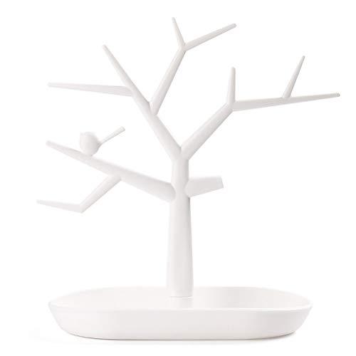 HAODEE Organizador Pendientes joyero Pendientes Almacenamiento de joyería y bisutería Pendiente de Almacenamiento Joyería de árbol Pendientes Pendiente White