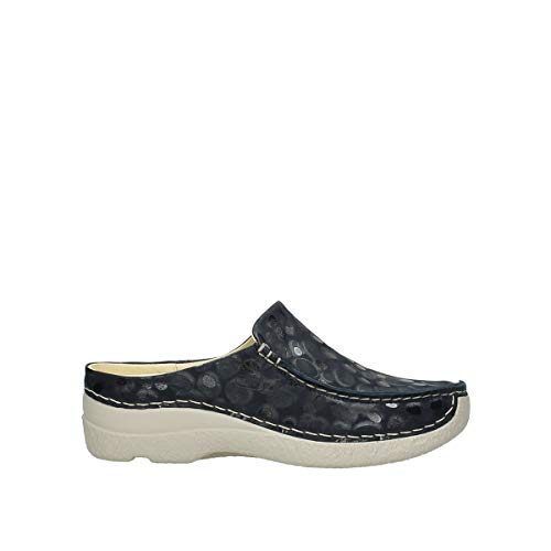 Wolky Comfort Seamy Slide - 12820 Denim Nubukleder - 43