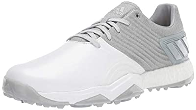 adidas Men's Adipower 4ORGED Golf Shoe, Clear Onix/Matte Silver/FTWR White, 12 M US