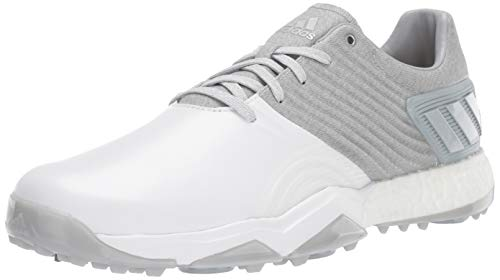 adidas Men's Adipower 4ORGED Golf Shoe, Clear Onix/Matte Silver/FTWR White, 10.5 M US