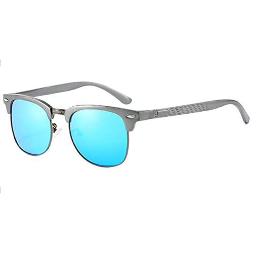 JSJE Gafas de Sol Redondas: Gafas de Sol polarizadas-UV400 Protectores HD Lentes, Marco de Metal, Resistencia a la caída, Hombres y Mujeres Resistentes al Desgaste adecua AT