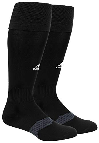Adidas Metro IV OTC - Calcetines de fútbol, Black/ White/ Night Grey, 5-8.5