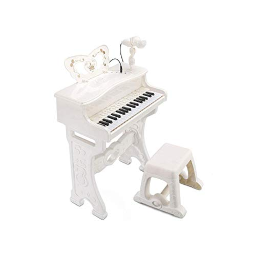 Digitale piano Toy Children's Keyboard Met Microfoon Beginner Multi-functie kan de piano te spelen 3-6 Music Training Toy Verrassing van Kerstmis Gift (Kleur: Roze) (Color : White)