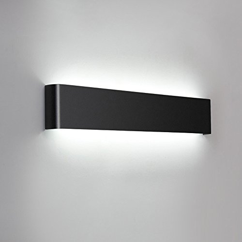 Slaapkamer Armaturen Minimalistische Wandlamp Modern Zwart/zilver Metal Brushed LED Warm Wit Licht dunne aluminium Muur Light Mirror Light Hotel Project Stairs Aisle Creative Sconce Maat: 32 / 61CM