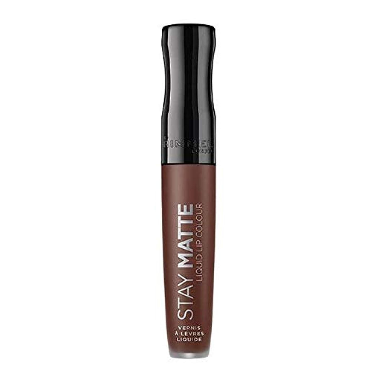 メキシコ訴える連隊[Rimmel ] リンメルステイマット液体リップ口紅プランジ - Rimmel Stay Matte Liquid Lip Lipstick Plunge [並行輸入品]