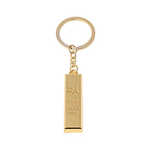 WDFVGEEMänner Feine Goldbarren Schlüsselanhänger Frauen Handtasche Charme Anhänger Goldbarren Schlüsselanhänger