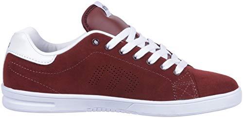 Etnies Callicut Ls, Chaussures de Skateboard Homme, Rouge (Burgundy/White 637), 46 EU