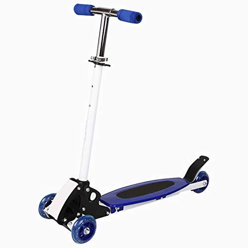 YWJPJ. Micro Scooter 3 en 1 con Asiento extraíble, Manillar Ajustable de 4 Ruedas con Sistema de dirección por Gravedad, diseño Plegable con 3 Modos de Velocidad, patinetes para niños/niñas