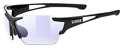 uvex Unisex– Erwachsene, sportstyle 803 race V Sportbrille, selbsttönend, black/blue, one size