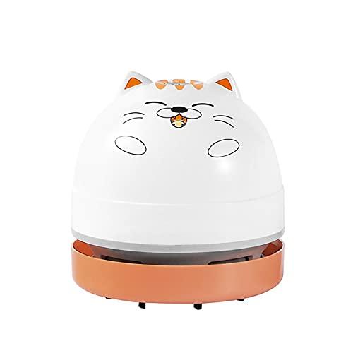 Aspiradora portátil para gatos Mini Desktop Sweeper Home Desk Aspirador de polvo para la limpieza de pelo, migas, piano, casa de mascotas (B)