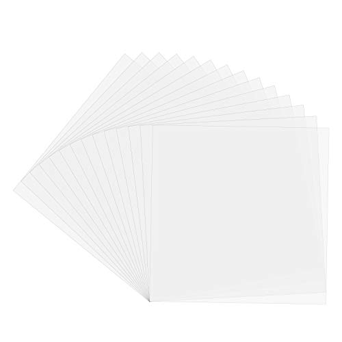Blank Stencil Material, HTCELLE 25 Pieces 4 mil Thin Clear Plastic Sheet Acrylic Sheet for Stencils, Make Your own Stencil, 11.8 x 11.8 inches
