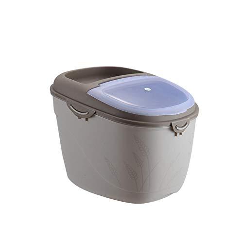 Dadahuam Vorratsbehälter Für Lebensmittel, 10kg 15kg Große Kapazität Getreidespender-Aufbewahrungsbox, Versiegelter Feuchtigkeits- Und Insektenschutz, Für Tiernahrung, Reis, Getreide, Bohnen