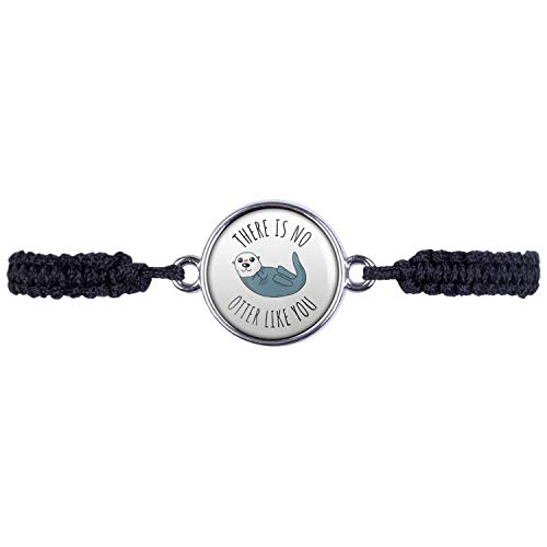 Mylery Armband mit Motiv There is no Otter Like You Silber 16mm