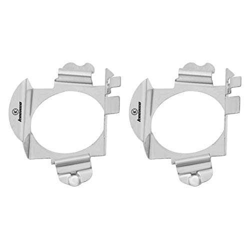 2 piezas H7 LED adaptador de faros delanteros,LED Bombillas Adaptador Retainer Holder Plata
