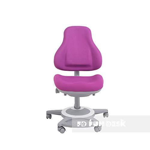 FD FUN DESK Bravo Purple Höhenverstellbarer Schreibtischstuhl, Stuhl für Kinder, Lila, 650x480x800-970 mm