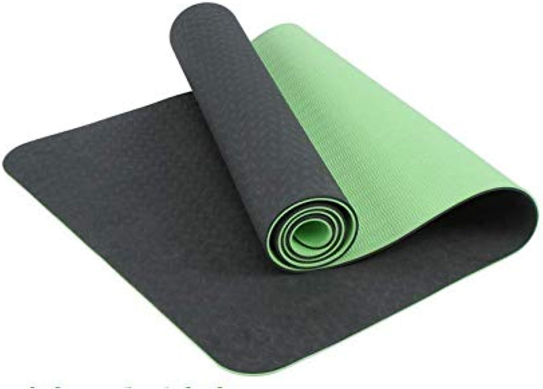 YanLong Yogamatte umweltfreundliche Materialien Hochwertiges TPE zweifarbig 183  61  0.6CM Hypoallergen und hautfreundlich, ideal für Yoga, Pilates&Fitness,