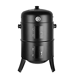 Multifunction: 3-in-1 multi-function charcoal grill, single-layer can be used for grilling, smoking and heating, double-layer can be used as a grill and smoked. As a smoker for grilling, smoking and cooking, our product can meet your different needs....