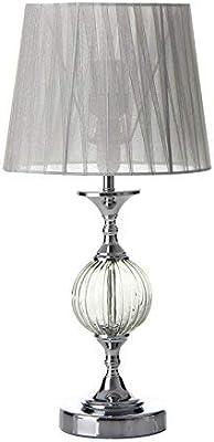 Lola Derek - Lampada da tavolo araba, in metallo argentato, per soggiorno Arabia